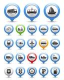 Transport-Ikonen Stockbilder