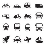 Transport-Ikonen Stockfotografie