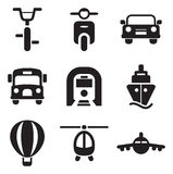 Transport-Ikonen Lizenzfreie Stockfotos
