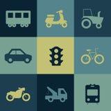 Transport-Ikonen-Satz Lizenzfreie Stockfotos