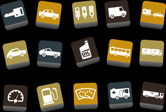 Transport-Ikonen-Set Lizenzfreie Stockfotografie