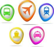 Transport ikony Zdjęcia Royalty Free