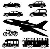 Transport ikony Fotografia Stock