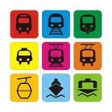 Transport ikony Obrazy Stock