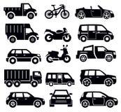 Transport ikony set Zdjęcia Royalty Free