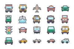 Transport Illustration Icons 4 Royalty Free Stock Photos
