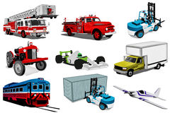Transport illustration set Stock Photos