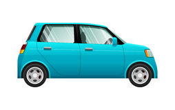 Transport. Illustration of Small Blue Automobile Stock Photo