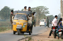 Transport in india-Auto rickshaw Stock Photo