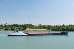 Transport by industrial boat Royalty Free Stock Photos