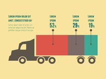 Transport Infographic-Element Stockfoto