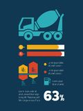 Transport Infographic-Element Lizenzfreie Stockbilder