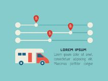 Transport Infographic-Element Stockfotografie