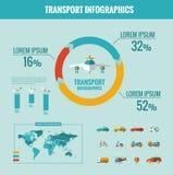 Transport Infographic-Elemente Stockbild
