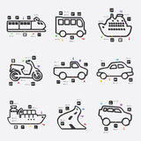 Transport infographic Royalty Free Stock Photo