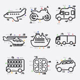 Transport infographic Royalty Free Stock Photography