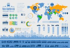 Transport Infographic-Schablone. Lizenzfreie Stockbilder
