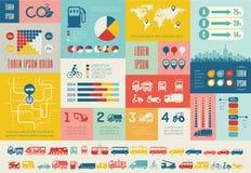 Transport Infographic-Schablone. Stockfotos