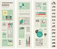 Transport Infographic-Schablone Lizenzfreies Stockbild
