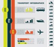 Transport Infographic-Schablone Stockfotos