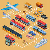 Transport Infographics Isometric Layout Royalty Free Stock Photos