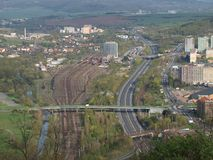 Transport infrastructure of the city. Northern Bohemia royalty free stock photo