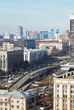 Transport interchange on Avenue in Moscow Stock Photos