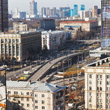 Transport interchange on Avenue in Moscow Stock Photo
