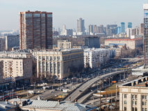 Transport interchange on Avenue in Moscow Stock Photography