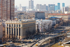 Transport interchange on Avenue in Moscow Royalty Free Stock Photos