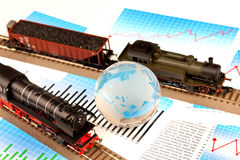 transport intrenational lokomotywy transport Obraz Stock