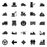 Transport Isolated Vector Icons Set that can be easily modified or edit vector illustration
