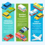 Transport Isometric Banners Vertical Royalty Free Stock Photography
