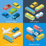 Transport Isometric Set Royalty Free Stock Images
