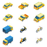 Transport Isometric Set. Transport Vector Illustration. Transport Isolated Elements.Transport Icons Set. Transport Means Collection Stock Photo