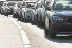 Transport jam on city roads St. Petersburg Royalty Free Stock Image