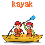 Transport of kayak vector flat Royalty Free Stock Images