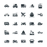 Transport-kühle Vektor-Ikonen 1 Lizenzfreies Stockfoto