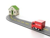 Transport, Ladung. Freie Hauslieferung Stockfotos