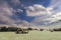 Transport of lake Tonle Sap Stock Photography