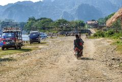 Transport in Laos Lizenzfreie Stockfotos