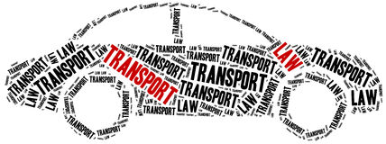 Transport law. Concept related to different areas of law. Royalty Free Stock Images