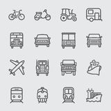Transport line icon Stock Images