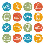 Transport line icons Stock Images