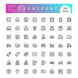 Transport Line Icons Set Royalty Free Stock Photos