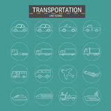 Transport line icons set ,transportation ,logistics . Stock Image
