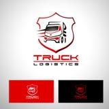 Transport-LKW Logo Vector Design Lizenzfreies Stockbild