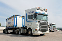 Transport-LKW Scanias R620 Breakbulk Stockbild