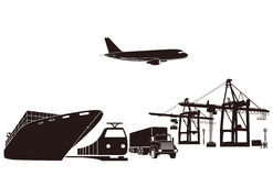 Transport and loading Royalty Free Stock Image