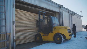 Transport for loading and transportation of sipes and bars. stock video